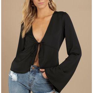 Tobi bell sleeve blouse